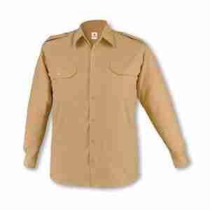 Camisa laboral manga larga 2 bolsillos y galoneras