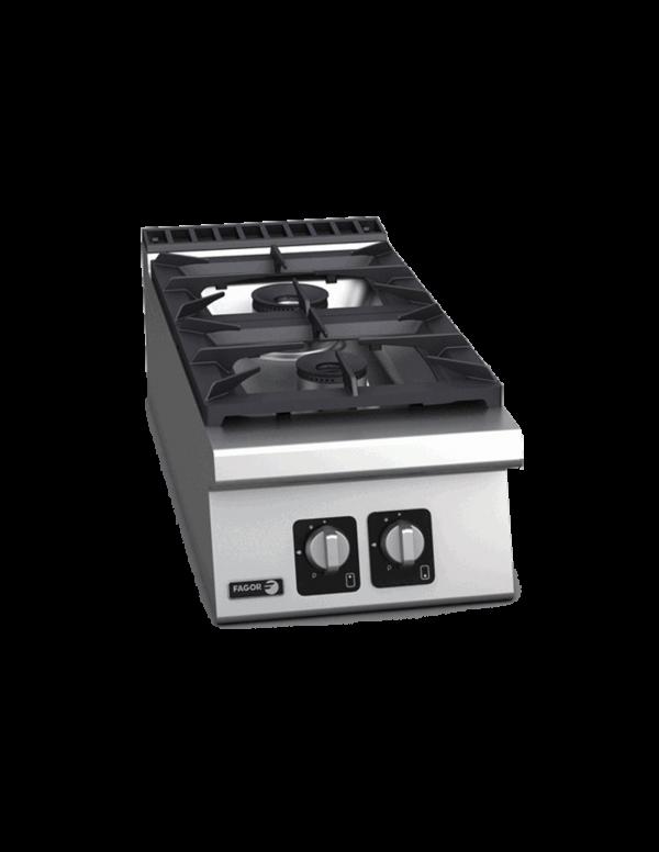 CG9-20 Cocina a gas sobremesa 2 fuegos Serie 900 FAGOR