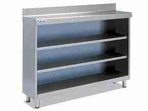 Mod. Frentemost 2m. Mueble estanteria acero Inox.