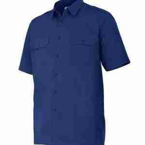 Camisa laboral manga corta 2 bolsillos y galoneras