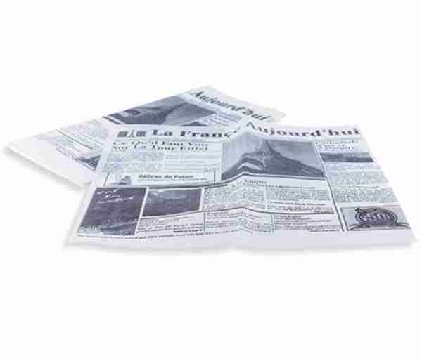 Papel Times antigrasa 31x31cm. (1000 unidades)
